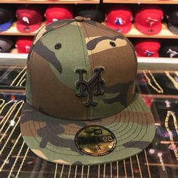 New Era New York Mets Fitted Hat All Camo/Black