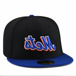"New Era New York Mets Fitted Hat Black/Royal/Royal ""Mets"""