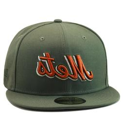 New Era New York Mets Fitted Hat Olive Green/Copper For timb