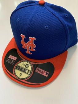 NEW ERA New York Mets GAME 59Fifty Fitted Hat MLB Cap Size 8