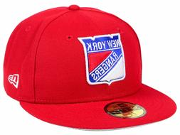 NEW YORK RANGERS NEW ERA 59FIFTY FITTED HAT -SIZE- 8- NEW
