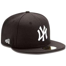 New Era New York Yankee Mlb Fitted Cap Black 7 3/4