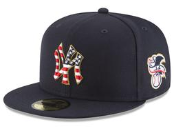 New York Yankees 4th of July Stars and Stripes Navy Hats New