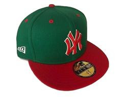 NEW YORK YANKEES NEW ERA 59FIFTY CUSTOM GREEN RED FITTED CAP