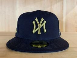 NEW ERA NEW YORK YANKEES FITTED HAT CAP 59FIFTY NAVY GOLD GR
