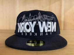 NEW ERA NEW YORK YANKEES FITTED HAT CAP 59FIFTY NAVY BLUE WH