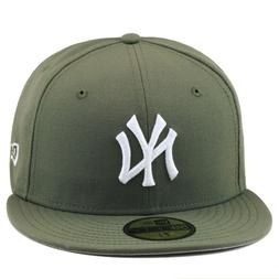 New Era New York Yankees Fitted Hat OLIVE GREEN/WHITE For ai