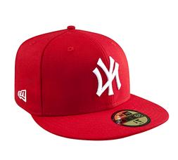 New Era NEW YORK YANKEES NY 5950 Red White Cap MLB Baseball