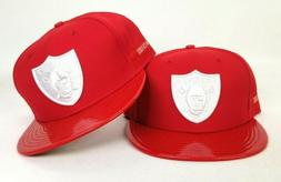 NFL New Era 59Fifty Red Leather visor Oakland Raiders fitted
