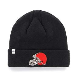 NFL Cleveland Browns '47 Raised Cuff Knit Hat, Black, One Si