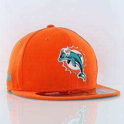 NFL Miami Dolphins On Field 5950 Game Cap, Orange, 7 3/8
