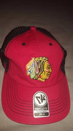 NHL CHICAGO BLACKHAWKS '47 CLOSER STRETCH FIT MESH HAT MENS