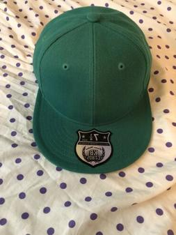 NWT, Blank Fitted Hat, Kelly Green, KBethos Brand, Size 7 1/