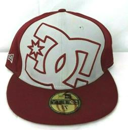 NWT DC SHOES New Era 59Fifty HAT Flat Bill FITTED SIZE 7 3/8