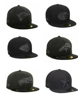 NWT New Era NFL Blacked Out Charcoal Gray Basic 59 FIFTY Fit
