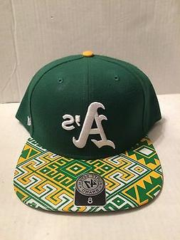 Oakland A's 47 Brand MLB COOP Moroc Fitted Hat Size 8 Green