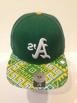 Oakland A's 47 Brand MLB COOP Moroc Fitted Hat Size 7 5/8 Gr