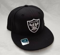 Oakland Raiders NFL 3D Embroidered Black Hat Fitted Cap