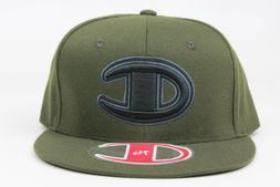 Champion Olive Green Black Classic Throwback Vintage Fitted