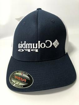 Columbia PFG FlexFit Fitted Hat Cap Navy Blue Unisex Adult S