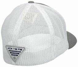 Columbia PFG Mesh Ball Cap, Titanium/Fish Flag, Large/X-Larg