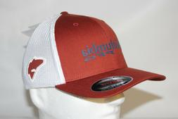 Columbia PFG RedFish Flexfit Fitted Mesh Ball Cap Hat  Rusty