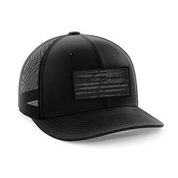 Phantom Black American Flag Flexfit Hat