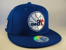 Philadelphia 76ers NBA Adidas Fitted Hat Cap Blue
