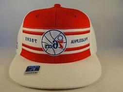 Philadelphia 76ers NBA Reebok Fitted Hat Cap Red White Blue