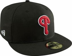 Philadelphia Phillies New Era Basic 59FIFTY Fitted Hat - Bla
