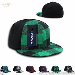 DECKY PLAID FLEX 6 PANEL FITTED TWO TONE BASEBALLCAPS HATS
