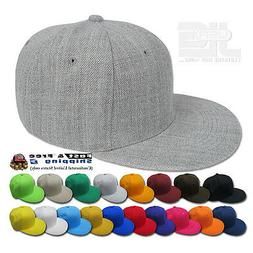 Plain Fitted Size Cap New Acrylic Multi-Brand Baseball Hat S