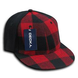 red black lumberjack plaid 6 panel flex