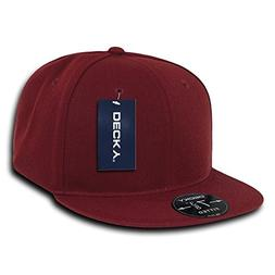 DECKY Retro Fitted Cap, Cardinal, 7 1/4