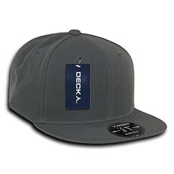 DECKY Retro Fitted Cap, Charcoal, 6 7/8