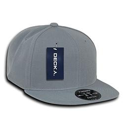 DECKY Retro Fitted Cap, Grey, 7 3/4