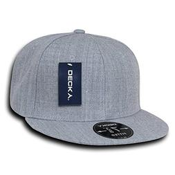 DECKY Retro Fitted Cap, Heather Grey, 7 3/8