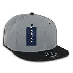DECKY Retro Fitted Cap, Black/Grey, 7 3/8