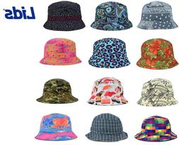 LIDS Reversible Printed Bucket Sun Hat - MANY STYLES - ALL S