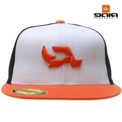 Ride R Logo 210 Fitted Baseball Cap Hat Orange S/M NWT NEW S