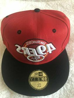 San Francisco 49ers Fitted Hat Red / Black Nfl Football