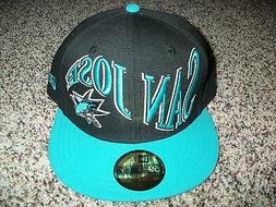 SAN JOSE SHARKS New NWT Mens Fitted Era HAT CAP 59 Fifty Bla