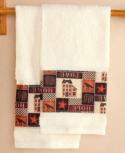 SET OF 2 RUSTIC COUNTRY PRIMITIVE COLLAGE BATHROOM OR KITCHE
