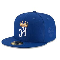 SIZE 7 1/2 NEW ERA KANSAS CITY ROYALS MLB 5950 DIAMOND BLUE