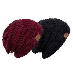 REDESS Slouchy Beanie Hat for Men and Women 2 Pack Winter Wa