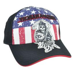 Sons of Anarchy Flex Fit Small Med SOA American Flag Distres