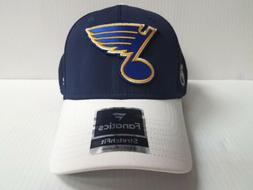 St. Louis Blues Cap Iconic Tech Speed Stretch Fit Fitted Hat