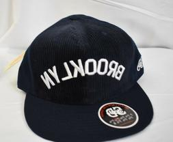 Stall & Dean Brooklyn Navy Blue Courduroy Fitted Hat Cap Pic
