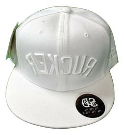 Stall & Dean Mens White Rucker Basketball Fitted Hat Cap Pic