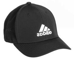 Adidas Stretch Fit Hat Black L/XL Climalite Men's Adizero Sc